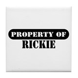 Property of Rickie Tile Coaster