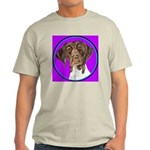 German Shorthair Pointer Head Ash Grey T-Shirt
