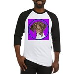 German Shorthair Pointer Head Baseball Jersey