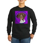German Shorthair Pointer Head Long Sleeve Dark T-S