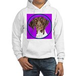 German Shorthair Pointer Head Hooded Sweatshirt