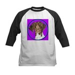 German Shorthair Pointer Head Kids Baseball Jersey
