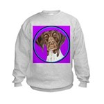 German Shorthair Pointer Head Kids Sweatshirt