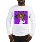 German Shorthair Pointer Head Long Sleeve T-Shirt