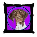 German Shorthair Pointer Head Throw Pillow