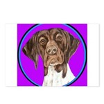 German Shorthair Pointer Head Postcards (Package o