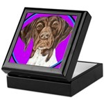 German Shorthair Pointer Head Keepsake Box