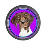 German Shorthair Pointer Head Wall Clock