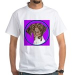 German Shorthair Pointer Head White T-Shirt