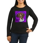 German Shorthair Pointer Head Women's Long Sleeve