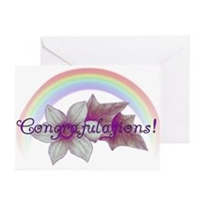 Rainbow Marriage Congratulations Greeting Cards
