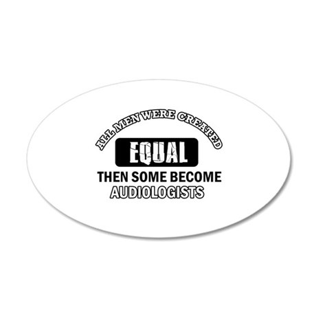 Cool Audiologists designs 20x12 Oval Wall Decal
