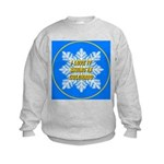 I Love It Skiing In Colorado Kids Sweatshirt