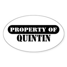 Property of Quintin Oval Decal
