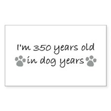 50 dog years 2-2.JPG Decal