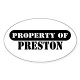 Property of Preston Oval Decal
