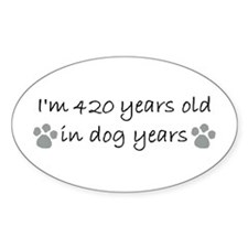 60 dog years 2-2.JPG Decal