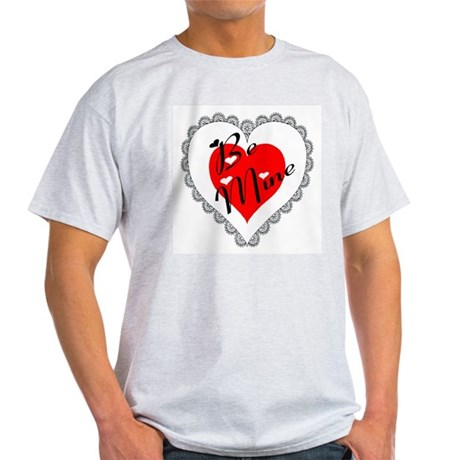 Lacy Heart Ash Grey T-Shirt