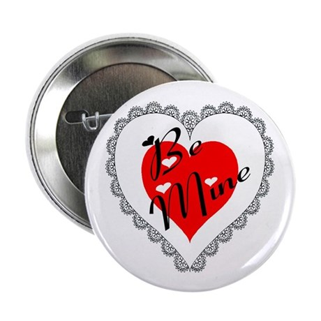 "Lacy Heart 2.25"" Button (100 pack)"