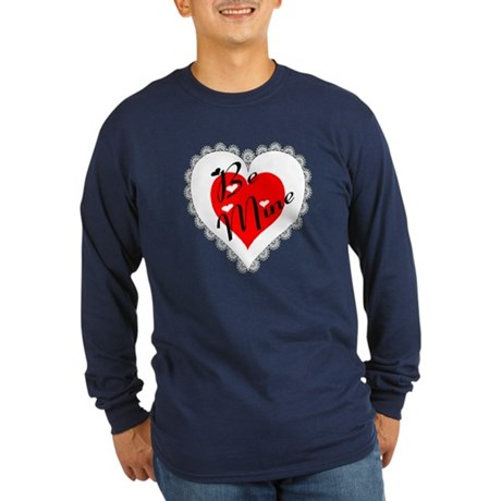 Lacy Heart Long Sleeve Dark T-Shirt