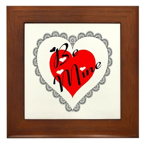 Lacy Heart Framed Tile