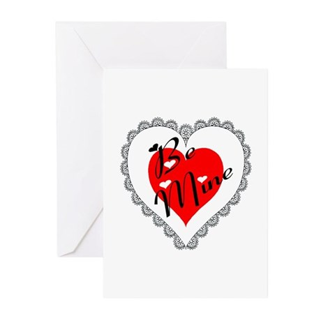 Lacy Heart Greeting Cards (Pk of 10)