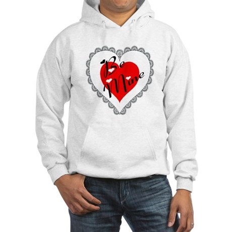 Lacy Heart Hooded Sweatshirt