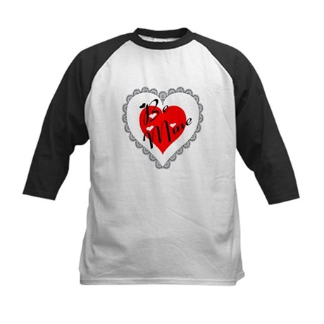 Lacy Heart Kids Baseball Jersey