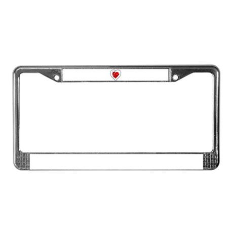 Lacy Heart License Plate Frame