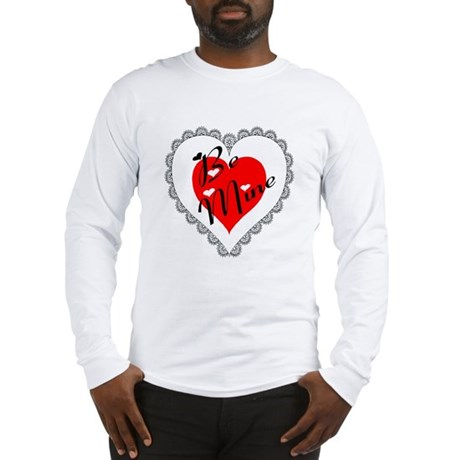Lacy Heart Long Sleeve T-Shirt