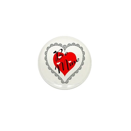 Lacy Heart Mini Button