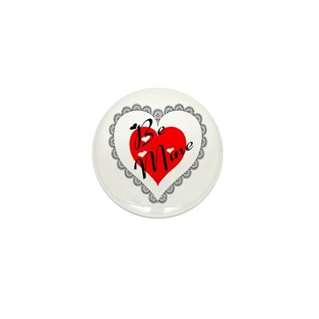 Lacy Heart Mini Button (10 pack)