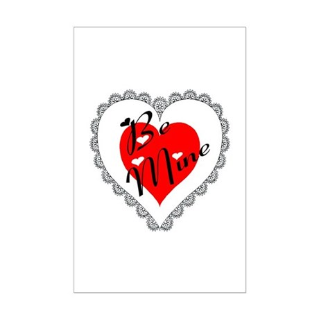 Lacy Heart Mini Poster Print