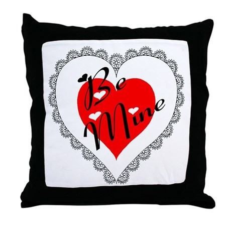 Lacy Heart Throw Pillow