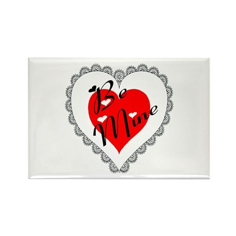 Lacy Heart Rectangle Magnet