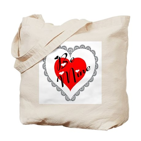 Lacy Heart Tote Bag