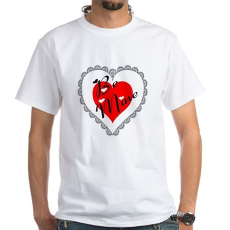 Lacy Heart White T-Shirt
