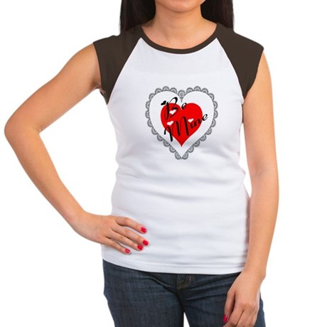 Lacy Heart Women's Cap Sleeve T-Shirt