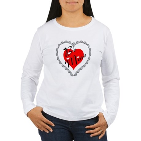 Lacy Heart Women's Long Sleeve T-Shirt