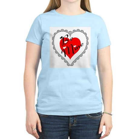 Lacy Heart Women's Pink T-Shirt