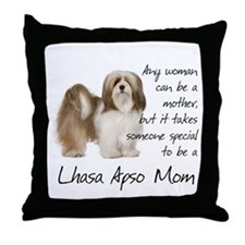 Lhasa Apso Mom Throw Pillow