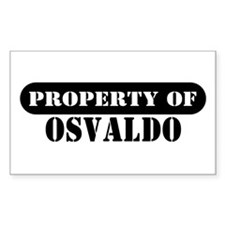 Property of Osvaldo Rectangle Decal