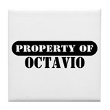 Property of Octavio Tile Coaster