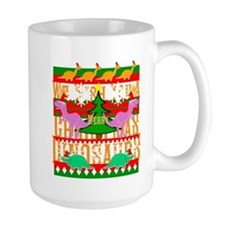 Ugly Christmas Sweater Dinosaurs Mugs