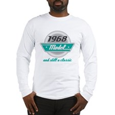 1968 Birthday Vintage Chrome Long Sleeve T-Shirt