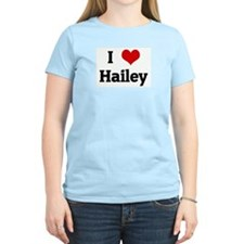 I Love Hailey Women's Pink T-Shirt