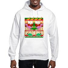 Ugly Christmas Sweater Dinosaurs Hoodie
