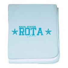 NS Rota Spain baby blanket