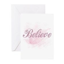 Believe PinK Greeting Cards x6