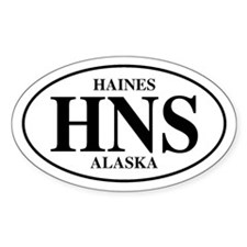 Haines Oval Decal